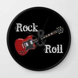 Rock and Roll Guitar Wall Clock