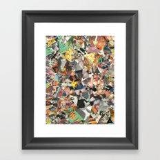 cateyewrestleparty Framed Art Print