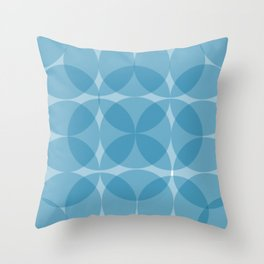 blue circulos Throw Pillow