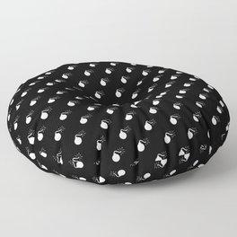 BOMB PATTERN - BLACK & WHITE - LARGE Floor Pillow