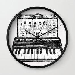 Keyboard.  Wall Clock