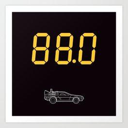 DeLorean Art Print