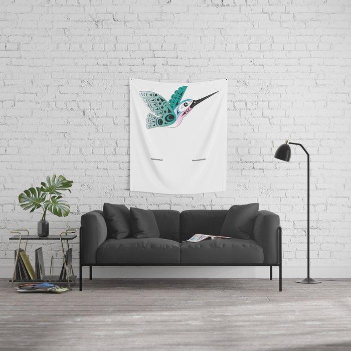 Hummingbird by: Jody Broomfield Wall Tapestry