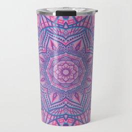 Vector glitch mandala Travel Mug