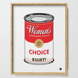 Women's Condensed Rights - Choice (red) Serving Tray