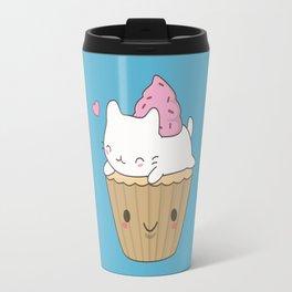 Kawaii Cute Cat Cupcake Travel Mug