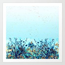 Dans le pre en bleu, Art Print