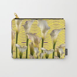 Purple-Yellow Calla Lilies Pattern Carry-All Pouch