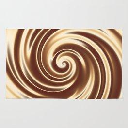 Chocolate milk cocktail spiral Rug