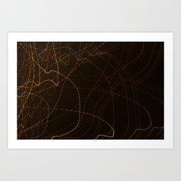 Stream The Lights Art Print