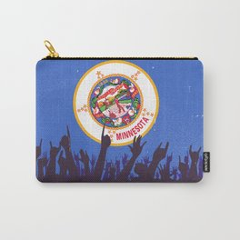 Minnesota State Flag with Audience Carry-All Pouch