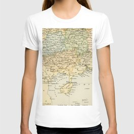 Vintage Map of The South Of China T-shirt