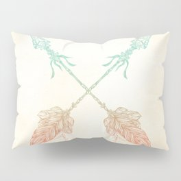 Tribal Arrows Turquoise Coral Gradient Pillow Sham