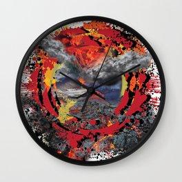 Volcano Eruption Wall Clock