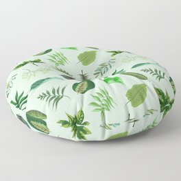 Tropical leaves pattern Floor Pillow