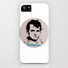 Jack Kerouac Record Painting iPhone Case