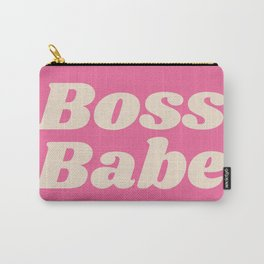 Retro Boss Babe - Pink Carry-All Pouch