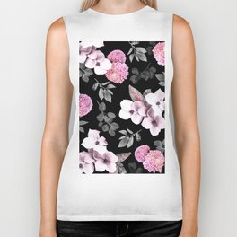Night bloom - pink blush Biker Tank