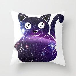 Galaxy cat (2) Throw Pillow