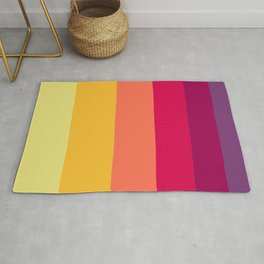 Colorful Sunset Geometric Pattern Rug