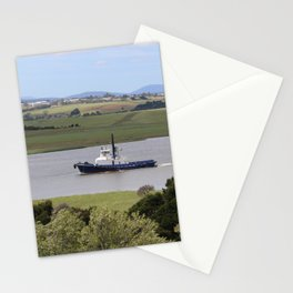 Tug Motoring Down the Tamar* Stationery Cards