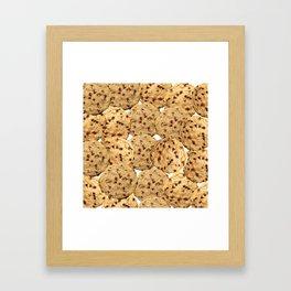 Homemade Chocolate Chip Cookies Framed Art Print