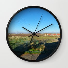 Landscape behind the frosted glass Wall Clock