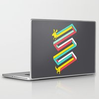 physics Laptop & iPad Skins featuring Physics doesn't apply to weiner dogs by Eleanor Lutz