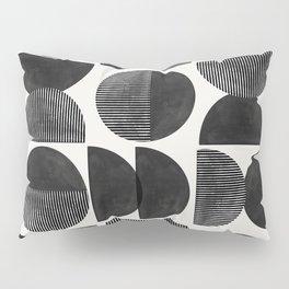 Mid Century, Retro Geometric Art Pillow Sham