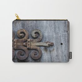 rusty hinge on blue Carry-All Pouch