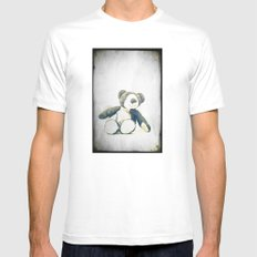 sitting teddy bear... Mens Fitted Tee White MEDIUM