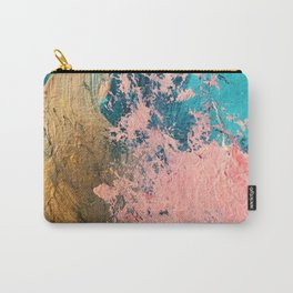 Coral Reef [1]: colorful abstract in blue, teal, gold, and pink Carry-All Pouch