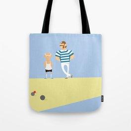 men bowling Tote Bag
