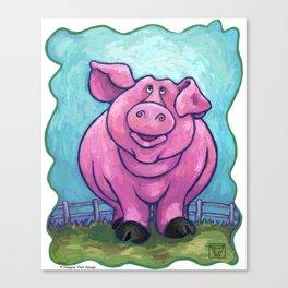 Animal Parade Pig Canvas Print