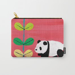 Green and Panda Carry-All Pouch