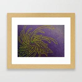 Aureolin Chrysanthemum spiral Framed Art Print