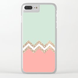 AVALON CORAL MINT Clear iPhone Case