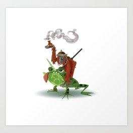 Orangutan Unicorn Toad Warrior Art Print