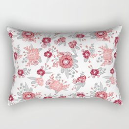 Floral Bama alabama crimson tide pattern gifts for university of alabama students and alumni Rectangular Pillow