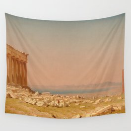 Ruins of the Parthenon Oil Painting by Sanford Robinson Gifford Wall Tapestry