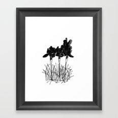 Dark Iris Framed Art Print