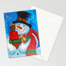 Snowman with Gifts Stationery Cards