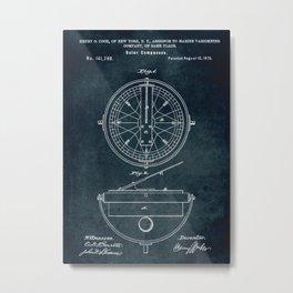 1873 Solar Compasses patent art Metal Print