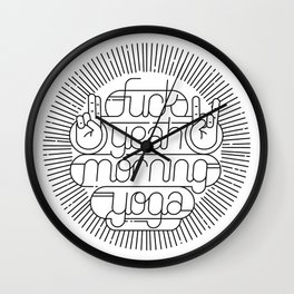 F**k Yeah Morning Yoga Wall Clock