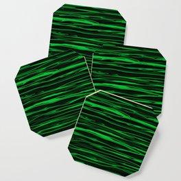 Apple Green Stripes Coaster