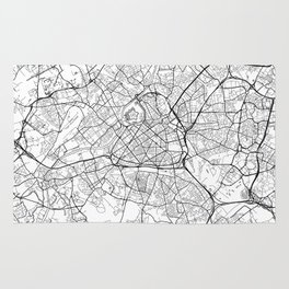 Lille Map White Rug