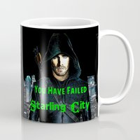 arrow Mugs featuring Arrow by SwanniePhotoArt