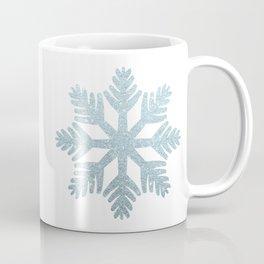 Blue Glitter Snowflake Coffee Mug