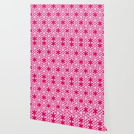 Abstract red-pink snow pattern Wallpaper