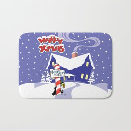 Christmas in North Pole Bath Mat